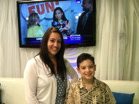 Ms Allyson Sargeant & Jake in Fox5 Green Room